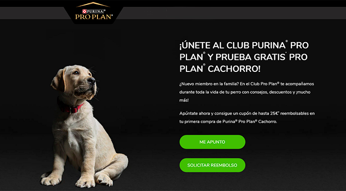 Prueba gratis Pro Plan Cachorro de Purina