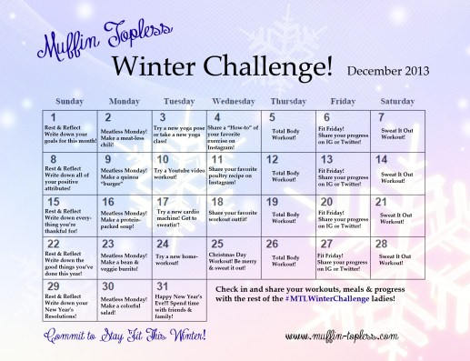 FREE fun fitness challenge to get you in shape this winter! Commit to stay fit!