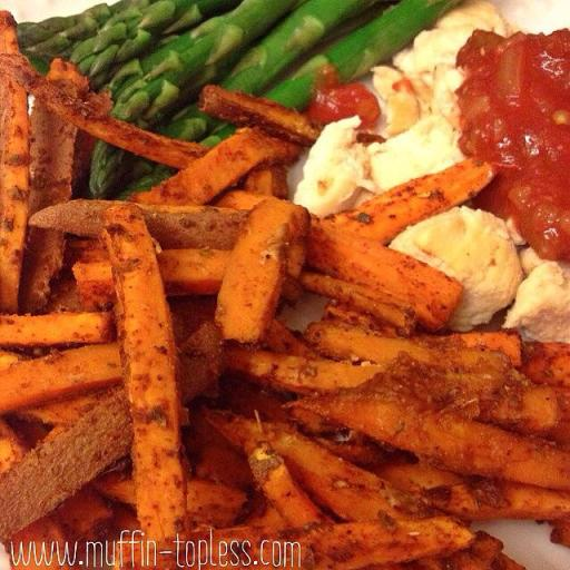 Healthy and Spicy Sweet Potato Fries
