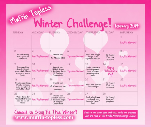 Fun, FREE Fitness Challenge complete with workouts, nutrition guidelines, a calendar and more!