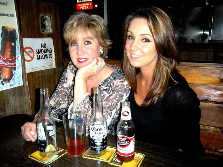My first LEGAL drink with my mom and dad at a dive bar in Manhattan Beach