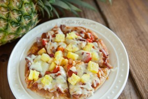 Pineapple & Sauteed Veggie Pita Pizza