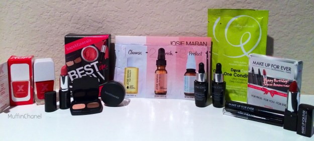 MuffinChanel Sephora VIB Rouge Birthday Haul 2014 freebies free gratis