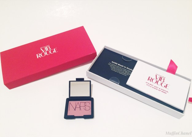 muffinchanel vib rouge renewal gifts nars blush goulue packaging