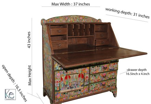 Writing desk, writing table, handcrafted tables