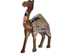 Paper mache camel, Hand carved Camel decor,camel statues for sale,