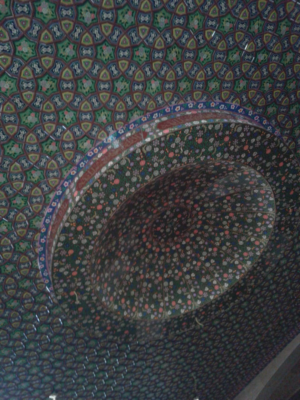 mughal art, ceiling-art-blues