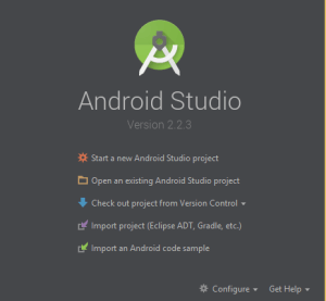Start a new Android Studio project.