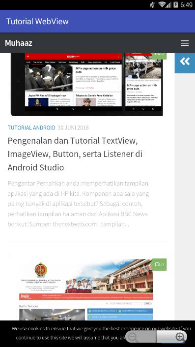 membuat aplikasi android dengan webview