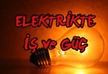 elektrik gücü formülü