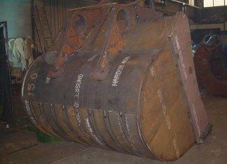 hardox-400den imal edilmiş kepçe kovanı parça