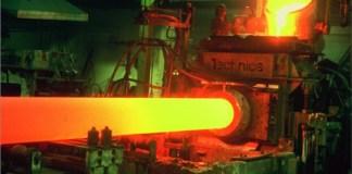 silindir şekilinde kütük çıkaran sürekli döküm makinası