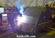Kepçe kazıcısının kaynağı ve hardox çeliği