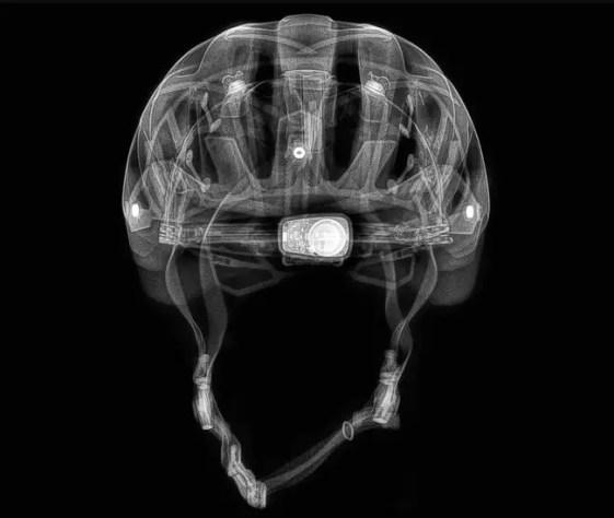 X-Ray Sensörlü Kask gösterimi