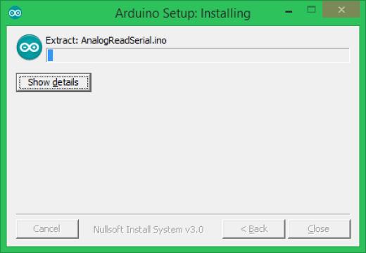 Arduino yükleme aşamaları son basamak