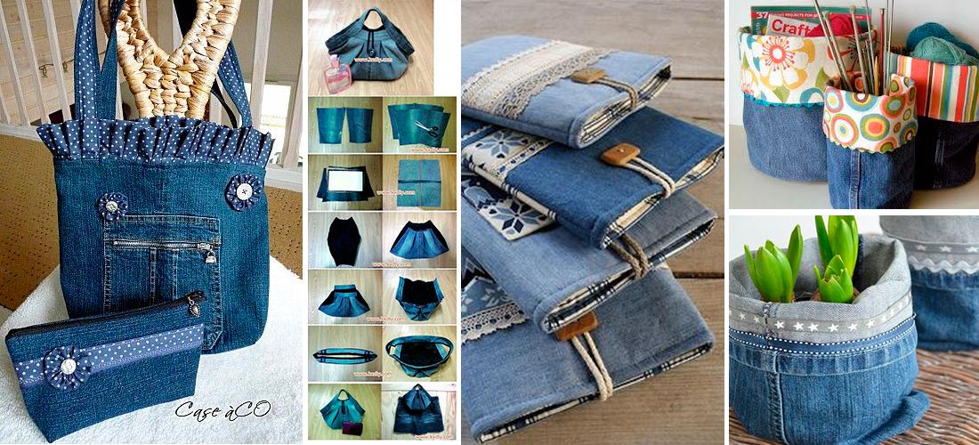 15 ideas increbles para reciclar tus jeans viejos  Mujer