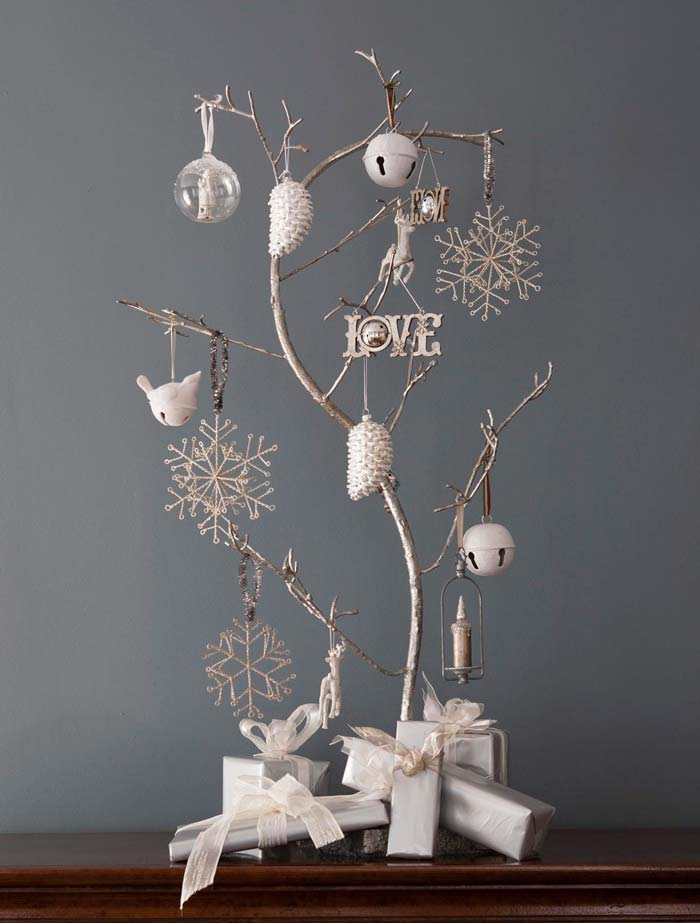 Detalle must Ramas y colgantes para decorar en Navidad