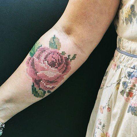 10 Ideas De Tatuajes Punto De Cruz Que Amarás Mujer De 10