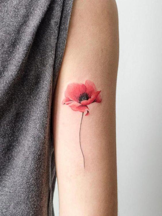 10 Ideas De Tatuajes De Flores En Acuarela Que Te Encantarán