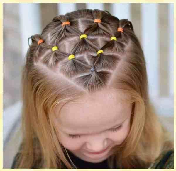 Trenza Peinados Para Niñas Con Ligas Faciles De Hacer