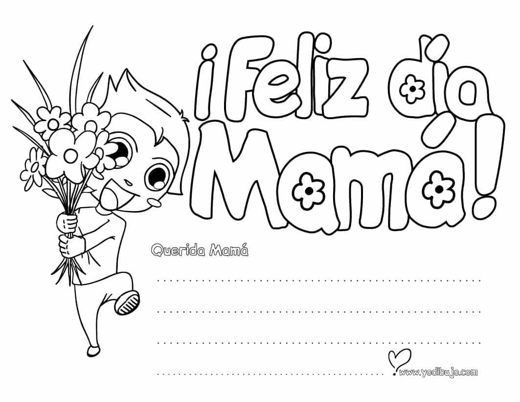 32 Dibujos para el Día de la Madre para imprimir y