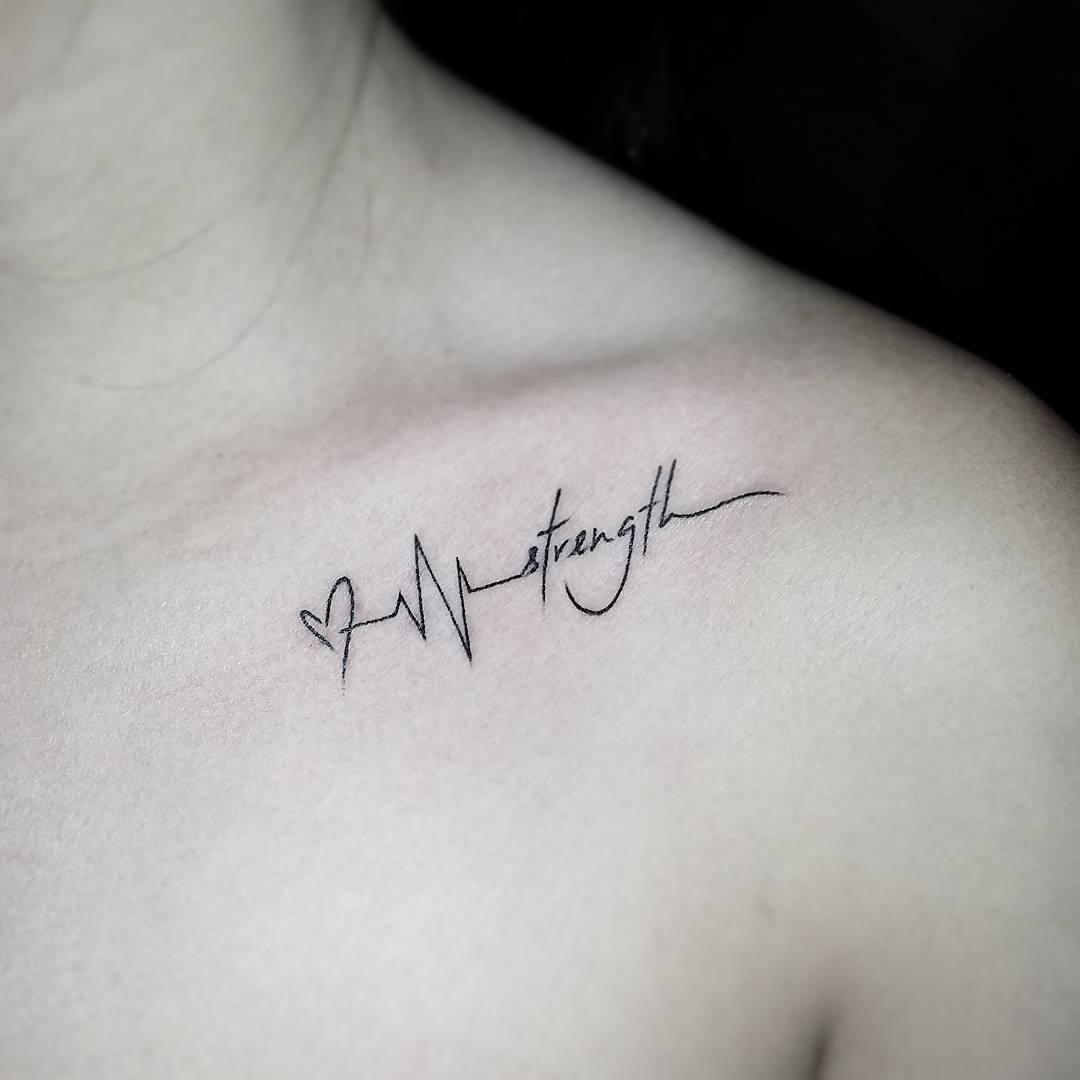 73 Tatuajes En La Clavícula Delicados Y Pequeños Mujeres Femeninas