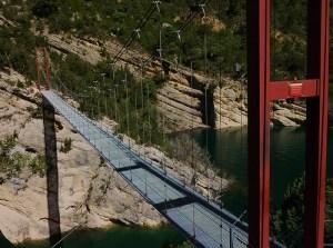 Fotografía del Puente Colgante de Siegue