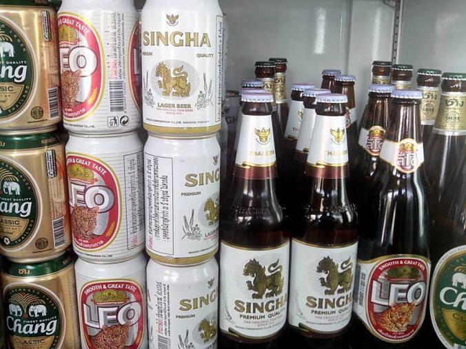 Cervezas tailandesas