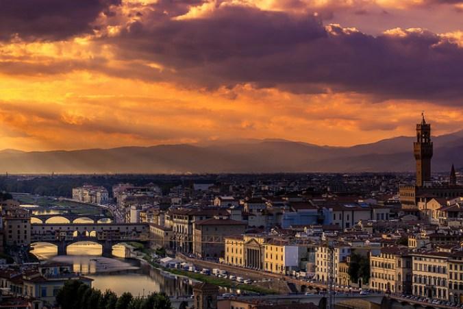Puesta de sol desde el Piazzale Michelangelo