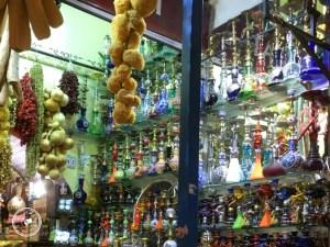Puesto de en el Bazar Egipcio de las especias.