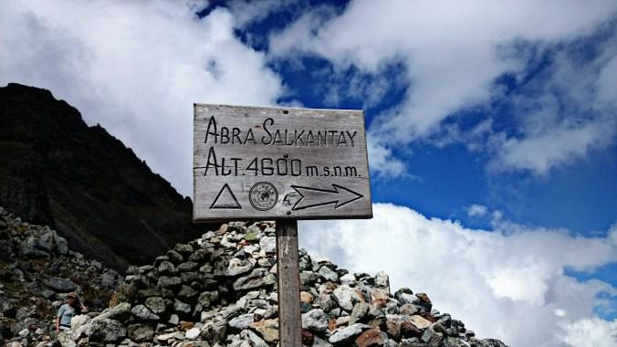 Altura del paso Salkantay