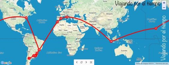 Posible ruta inicial, aunque ¿quién sabe el siguiente destino?