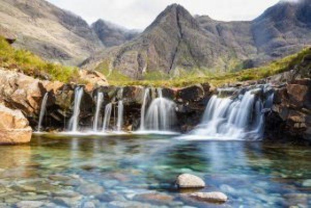 Fairy Pools o Piscinas de las Hadas en la isla de Sky en Escocia
