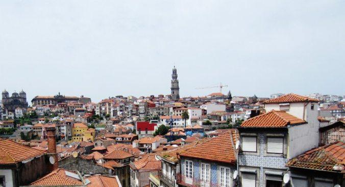 Vistas de Oporto desde la catedral