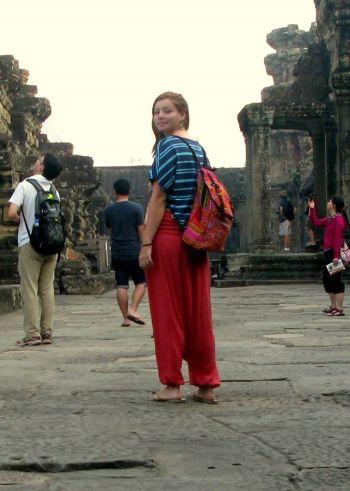 Andrea en Angkor Wat, Siemp Riep, Camboya, Abril 2013