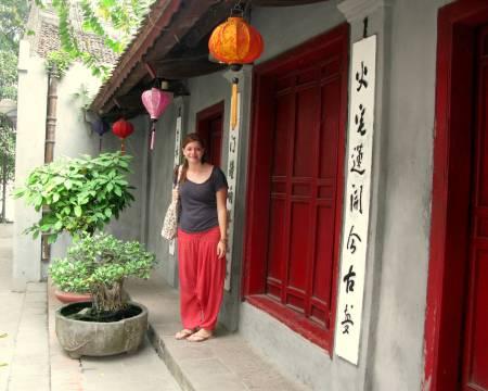 Andrea en Hanoi, Vietnam, Abril de 2013