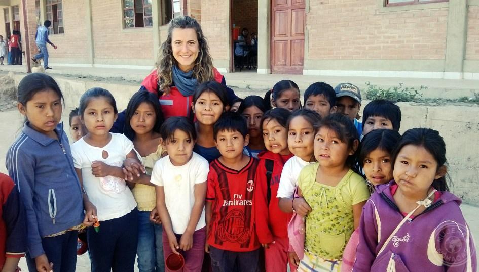 En una de las escuelas cercanas a Sucre. Bolivia.