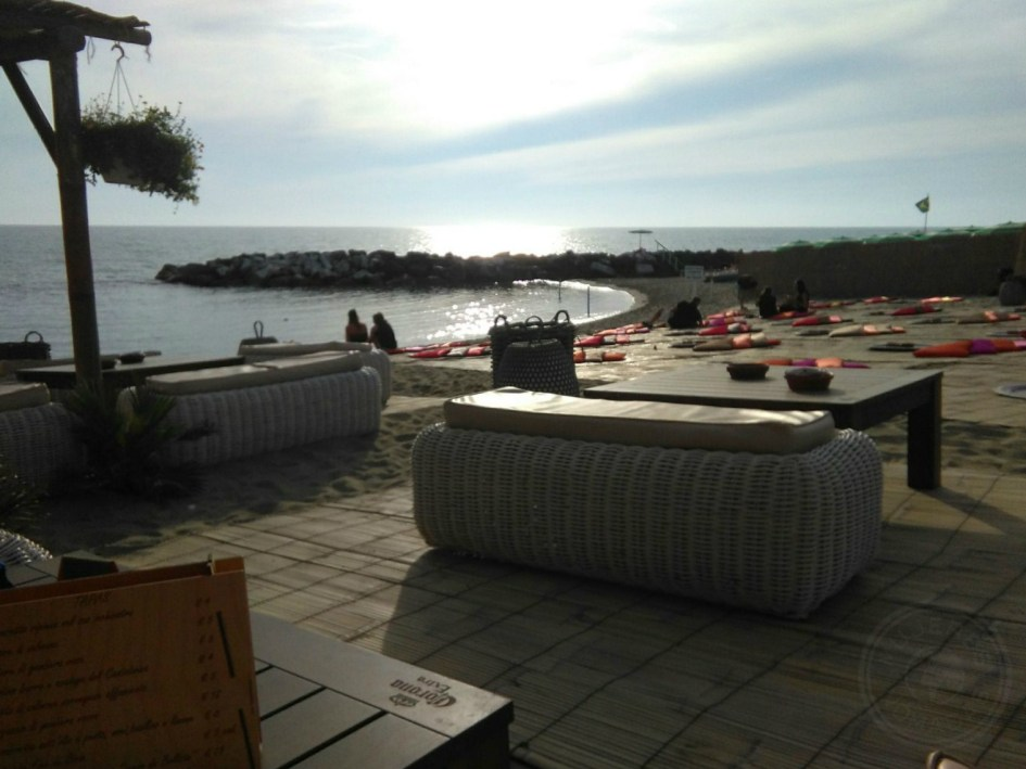 La playa privada: Sunset beach en Tirrenia.