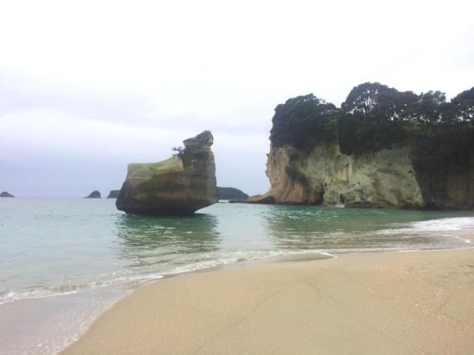 Playa cerca de Hot Water Beach