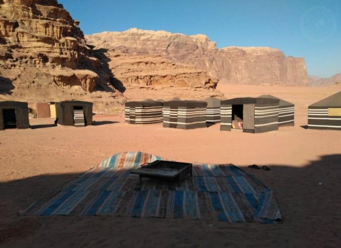 Mi campamento beduino en Wadi Rum.
