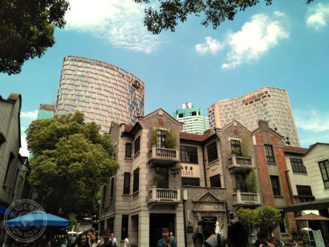 Una fachada en el Barrio Francés en Shanghái.