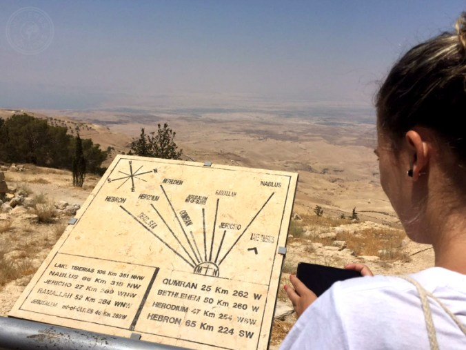 Vista de Jordania, Cjordania e Israel.
