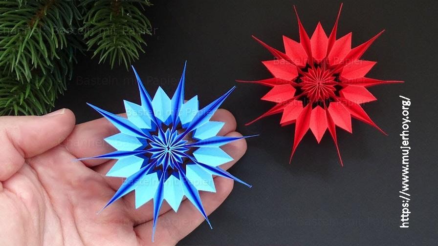 Estrella de papel navidad