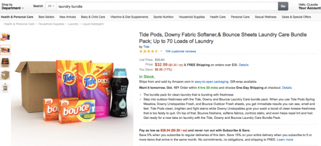 The Tide, Downy, & Bounce Laundry Care Bundle Pack