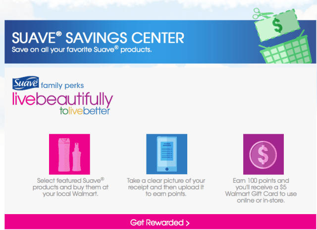 Suave® Savings Center