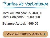 Mis ganancias en Voz Latinum