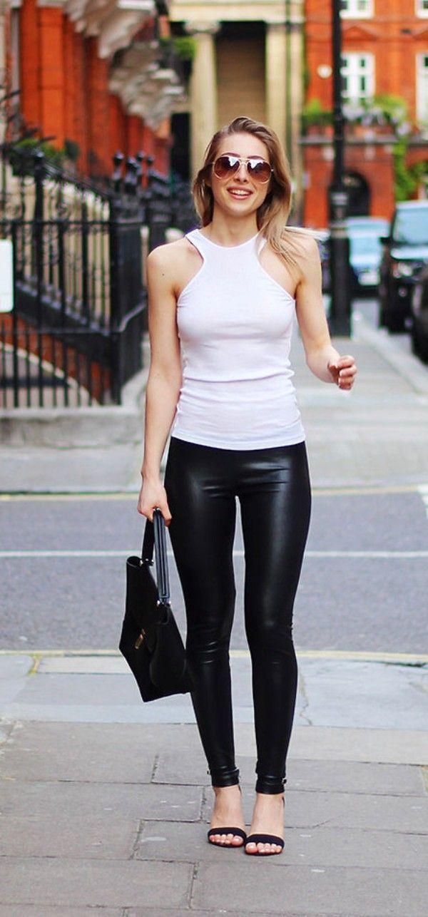 Outfits en Blanco y Negro  Los Mejores   Mujer y Estilo