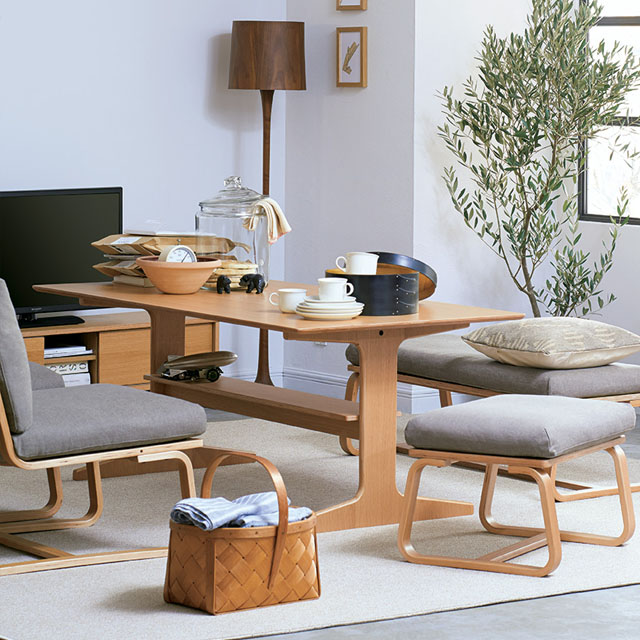 dining table in living room pictures interiors ideas uk oak wood furniture muji