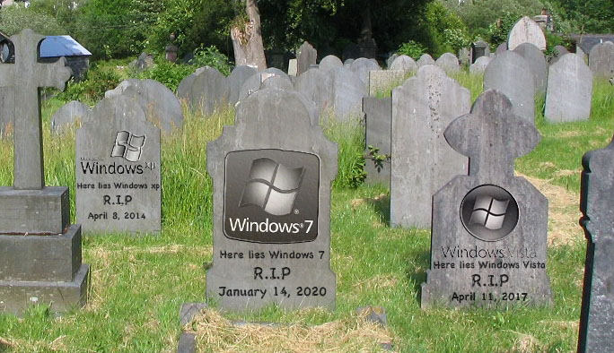 Window Operating Systems graveyard