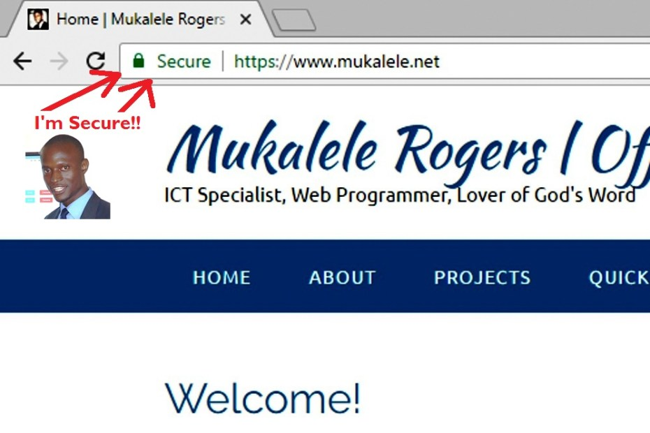 Mukalele.net now secure with HTTPS